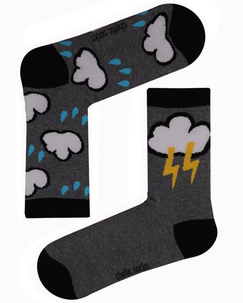 Γυναικείες κάλτσες με σχέδιο σύννεφο 78% βαμβάκι
