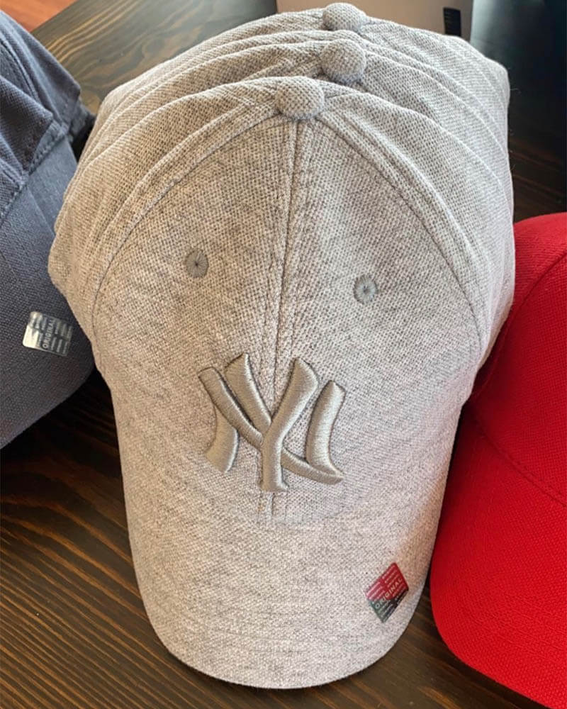 Unisex καπέλο jockey-γκρι 100% βαμβακέρο