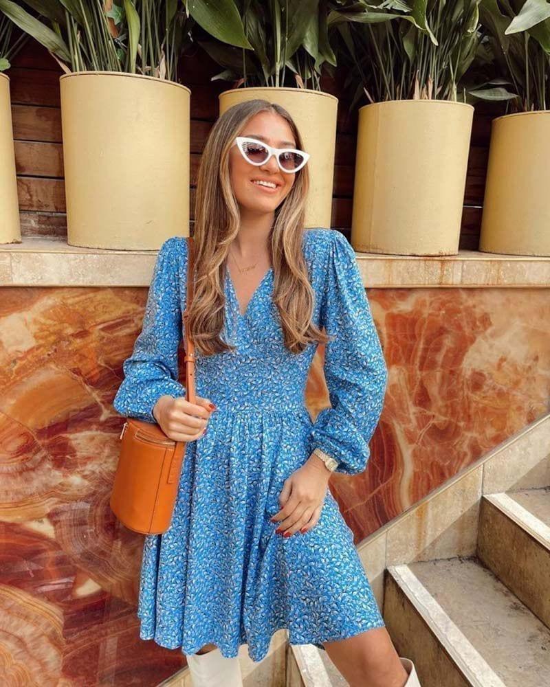 Μίνι γυναικείο φόρεμα Nenna 100% βαμβακέρο